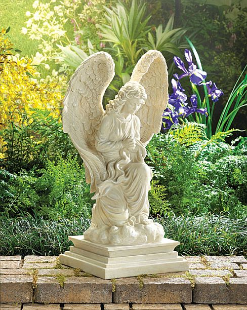 Press for Angel outdoor decoration
